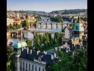 俯瞰美景图片 城市全景桌面壁纸 城市图片