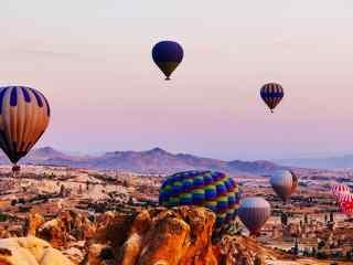 热气球_热气球美景_热气球手机壁纸_日出热气球图片壁纸