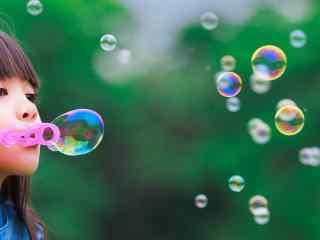 泡泡王国_神奇美丽的泡泡_魔幻泡泡秀_吹泡泡壁纸