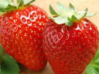 草莓_美味的草莓圖(tu)片_草莓甜點、蛋糕(gao)_卡通可愛草莓小清新圖(tu)片壁紙(zhi)
