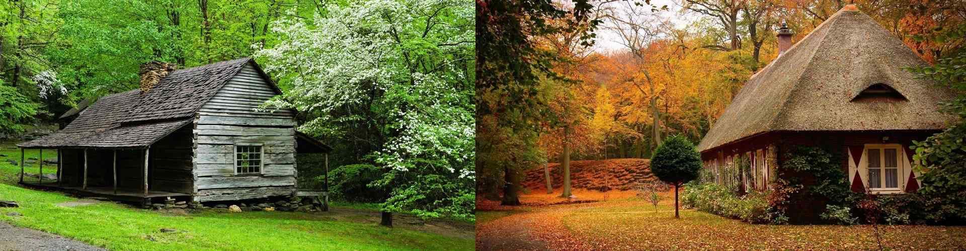 小木屋_小木屋风景图片_唯美的小木屋风景壁纸_小清新风景壁纸