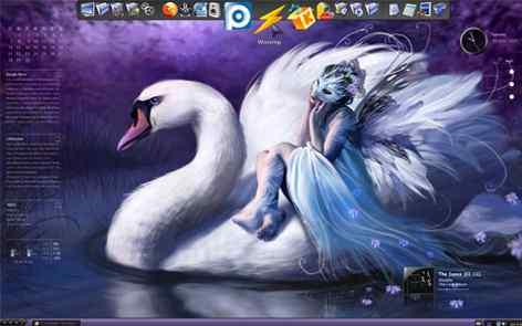 【唯美天鹅】蓝紫