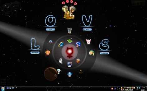 黑色星系梦幻桌面