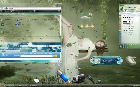 XP全透明酷主题桌