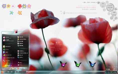 鲜花朵朵透明主题