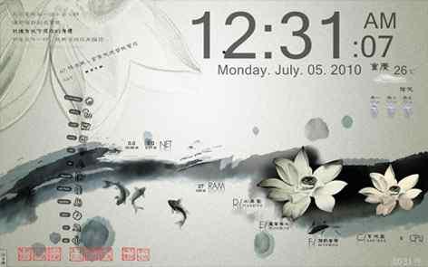 中国风--荷复古色调桌面秀