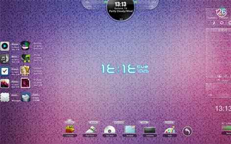 简约紫色主题桌面