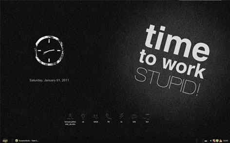 黑色简洁主题桌面
