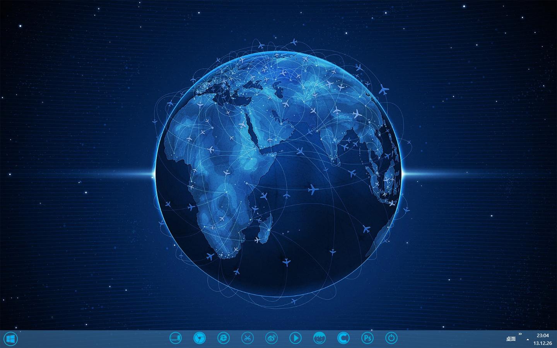 蓝色地球桌面秀
