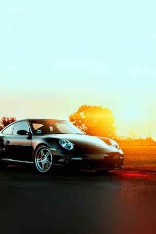 保时捷911夕阳西