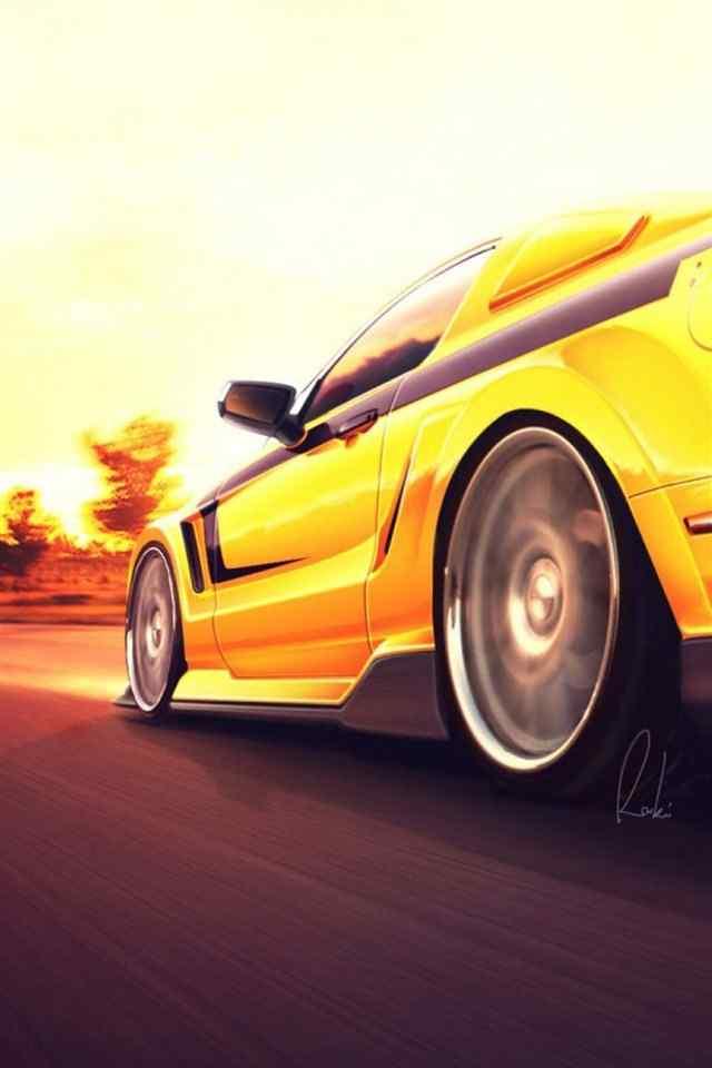 极速汽车图片高清iphone苹果手机壁纸_汽车壁纸