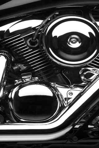 手机车模壁纸:酷炫的摩托车发动机 高清