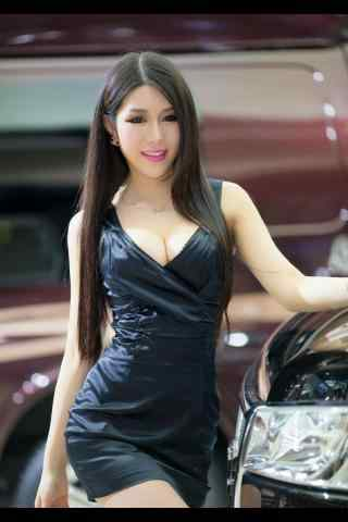 性感大胸韩国车模