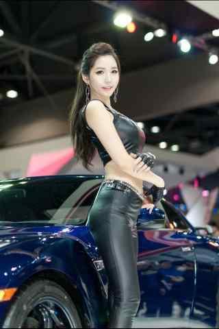 性感的韩国车模手机壁纸