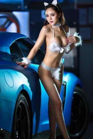 戰神gtr美女車模