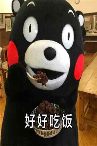熊本熊表情包之好好吃饭手机壁纸