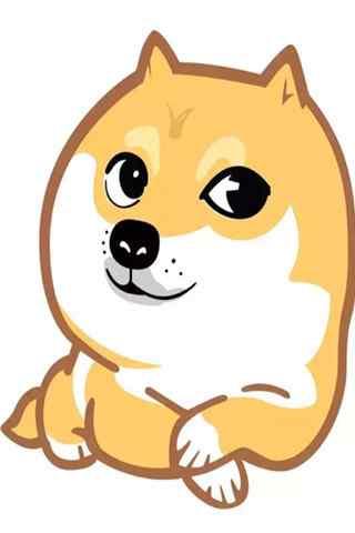 创意柴犬表情包手机壁纸