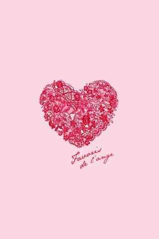 少女心粉色爱心手