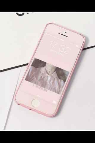 粉色唯美手机意境