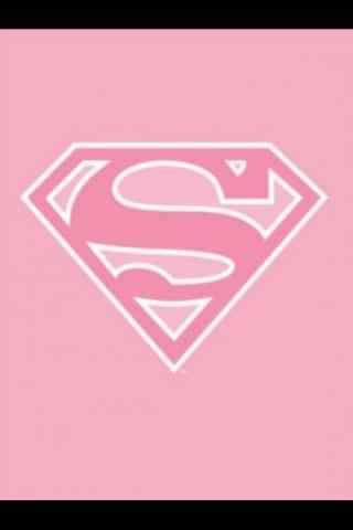 创意粉色超人标志