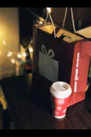 星巴克圣诞杯手机壁纸