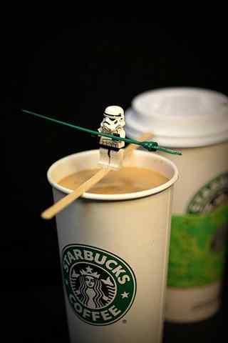 星巴克创意咖啡图片手机壁纸