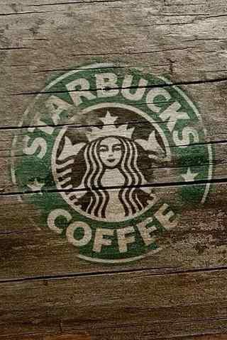 星巴克logo图片手机壁纸