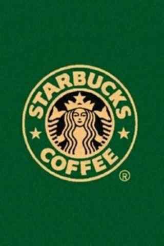 星巴克经典logo图片手机壁纸