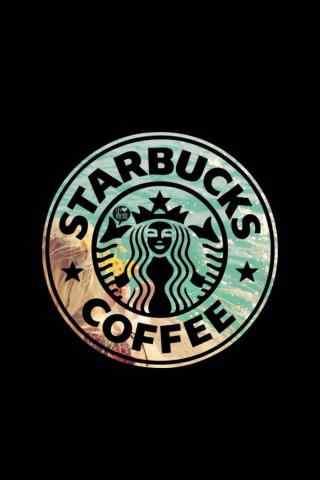 星巴克logo创意手机壁纸
