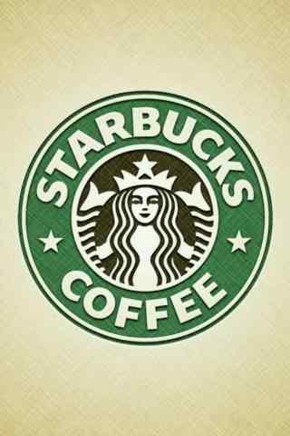 星巴克个性logo创意设计手机壁纸