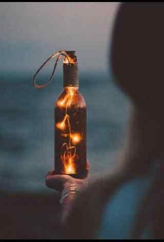 创意漂流瓶焰火图片
