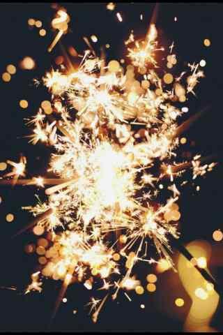 绚丽的焰火图片手机壁纸