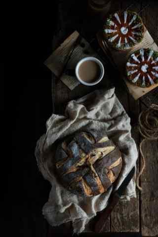 巧克力面包图片手机壁纸