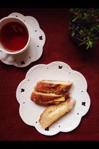 特色切片小面包图片手机壁纸