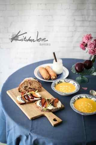 创意西式早餐小清新摆拍图片高清手机壁纸