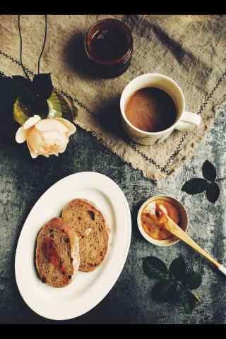 特色法式烤面包早餐图片手机壁纸