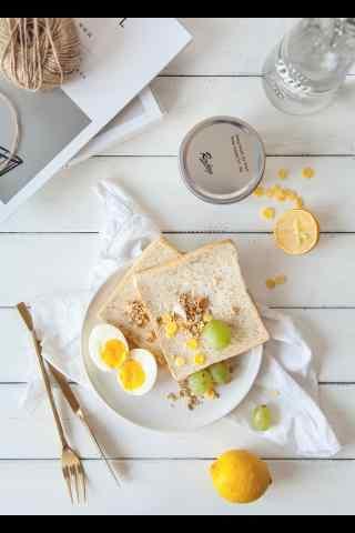 鸡蛋面包营养西式早餐图片手机壁纸