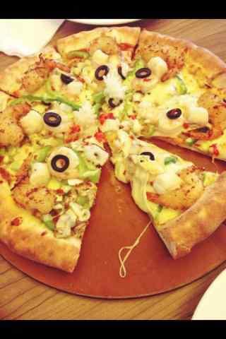 自制芝心披萨图片手机壁纸