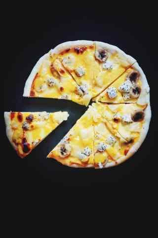 创意自制美味的水果披萨图片手机壁纸