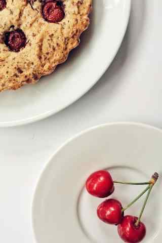 自制樱桃面包美食图片高清手机壁纸