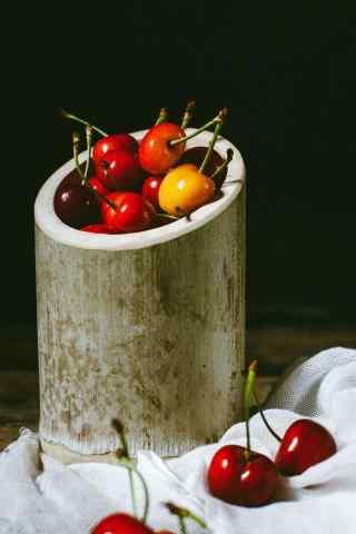 樱桃创意摄影图片手机壁纸