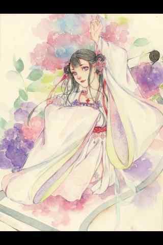 阴阳师花鸟卷创意新装手绘壁纸