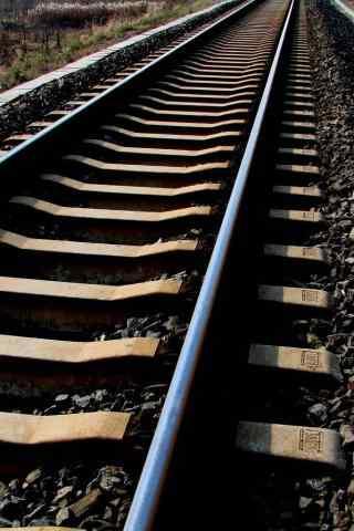 铁路特写风景手机壁纸