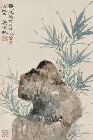 中国风景水墨画意境手机壁纸