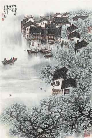 水墨烟雨江南风景手机壁纸