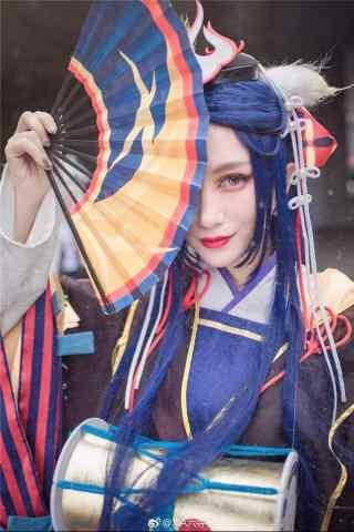 cosplay阴阳师玉藻前手机锁屏