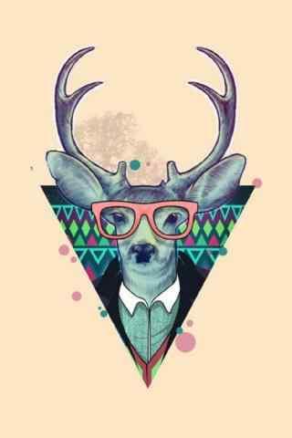 创意时尚手绘麋鹿