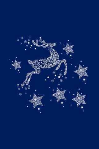 创意手绘星星麋鹿