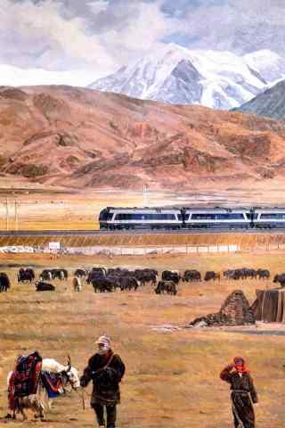 青藏铁路沿线壮丽风景手机壁纸