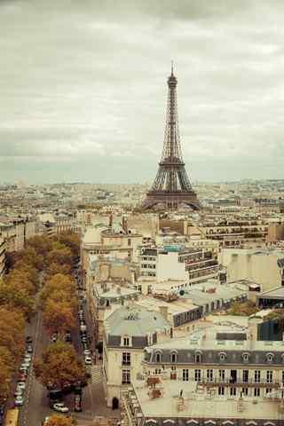 浪漫的法国埃菲尔铁塔手机壁纸